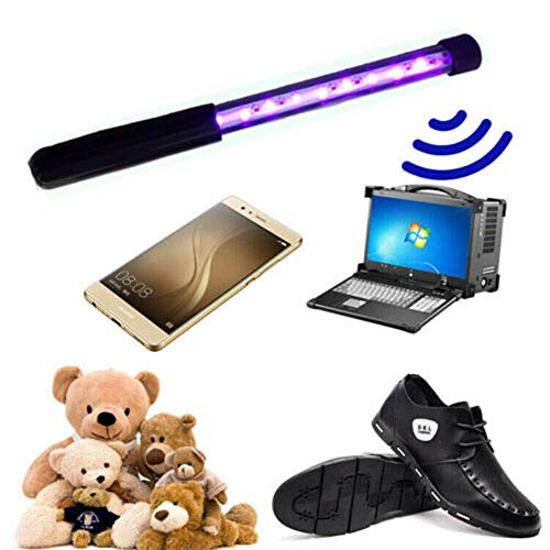 UV-Sterilisationslicht, tragbar, 3 W, UV-Lampe, UV-Sterilisator, 254 Nm, UVC-Lampe, Sterilisator, Handhalterung, USB-LED-Lampe, Desinfektion, Milben töten