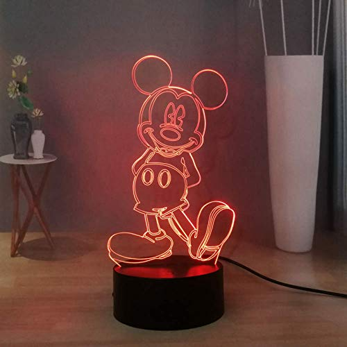 Mickey Mouse 3D - Lámpara de noche con diseño de dibujos animados