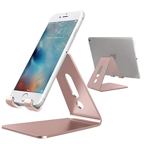 GiraVic Soporte Celular Escritorio, Soporte Teléfono, Soporte Dock Base Aluminio Compatible para Phone,…