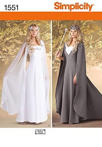 Simplicity 1551 Schnittmuster für Halloween- und Cosplay-Kostüm, für Damen, Größen 44-52