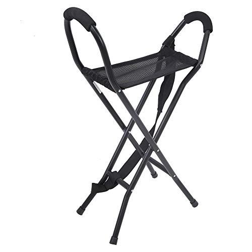Wytino Bastone da passeggio pieghevole con seduta, sgabelli in Canna da Passeggio Portatili Sedia da Passeggio Leggera con Seduta in Stile Sgabello per l'escursionismo in Campeggio
