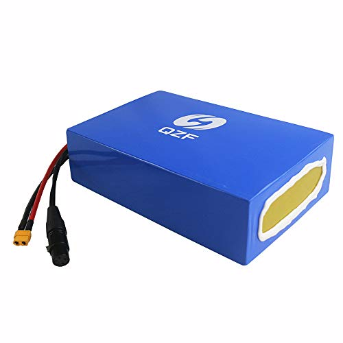QZF 48V 20AH Ebike Battery Waterproof PVC Lithium Battery Pack with Chrgaer and 50A BMS Protection for 1800W 1500W 1200W 1000W 750W Bike Motor Mountain Bike