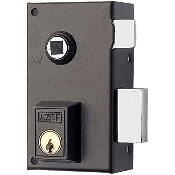 Yale 56BR70DHN - Cerradura de sobreponer estándar para puertas niquelado (entrada 40 mm derecha 56-B cilindro redondo): Amazon.es: Bricolaje y herramientas