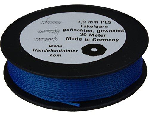 0,06€//m Drachenschnur Takelgarn PES 100 Meter 1mm weiß
