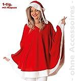 FRIES Miss Santa Claus Kapuzenponcho Nikolausin Nikolaus Damen Kostüm
