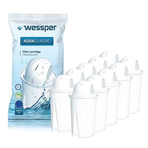 Wessper® Cartouche Filtrante pour Carafe - Compatible avec DAFI Crystal, Pack 10