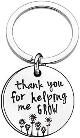 Sevenfly Thank You for Helping Me Grow Keychain Keyring Teacher Appreciation Gifts Term Begin product image