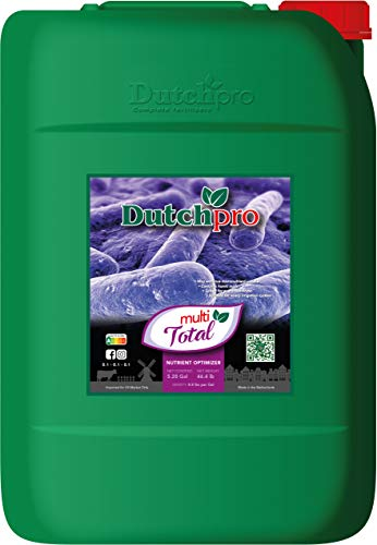 Dutchpro Multi Total: Nutrient Optimizer for Increased Nutrient Absorption | Liquid Plant Fertilizer | Increases Soil Fertility | Organic Fertilizer with Humic and Fulvic Acids | 5.28 gal/20L |
