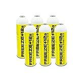 REPORSHOP - 6 Botellas Gas Ecologico Refrigerante Freeze +12a 420Gr Organico Sustituto R12, R134A