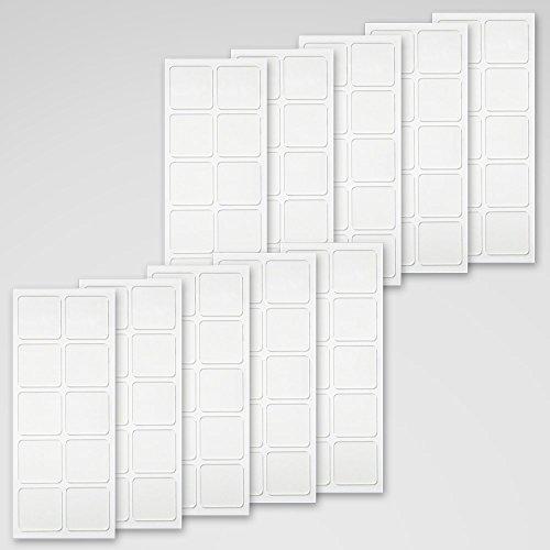くりぴた はがせるポスターテープ ガラス用 透明 (S) 20mm角 100片入 (10片×10シート) 掲示用「しっかり貼れる」「キレイにはがせる」両面テープ