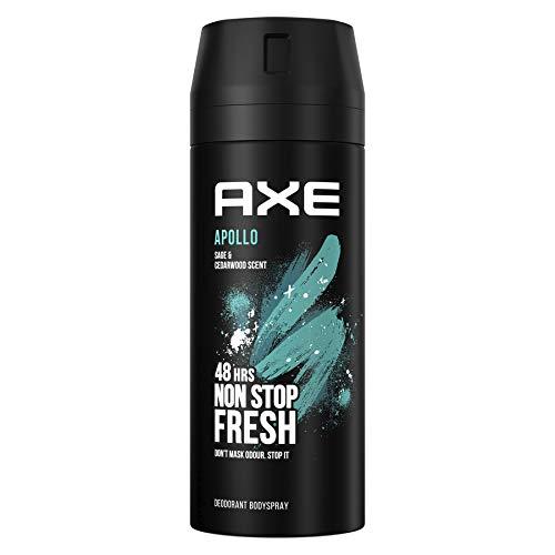 Axe - Desodorante bodyspray Apollo, 48H de protección, tecnología Dual Action, 150 ml