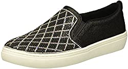 Black/Silver Goldie Darling Diamond Shape Rhinestone Slip On Sneaker