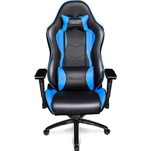 Kaper Go Butaca de juego Silla de oficina, silla de cuero de la PU que compite Escritorio ejecutivo, Moderno 360 grados de rotación del balanceo alta Volver silla de la computadora, con reposabrazos S