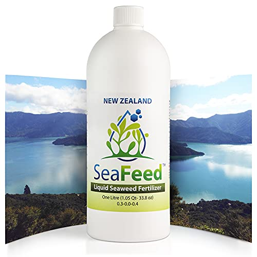 New Zealand Liquid Seaweed Fertilizer, 1L Liquid Plant Food for Vegetables, Lawns, and Houseplants. Great Organic Fruit Tree, Flower, Vegetable and Indoor Plant Fertilizer Aerator Lawn use Compatible