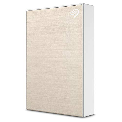 Seagate Backup Plus Portable STHP4000404 4 TB Hard Drive - External - Portable - USB 3.0 - Gold - Retail