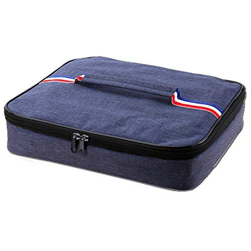 DXIA Lunchbox Tasche, kühltasche Isoliertasche, Kültasche Klein, Campingtasche Isolierbox, Lunchbox Isoliertasche, Kühltasche für die Arbeit und Schule,Dunkelblau (S)