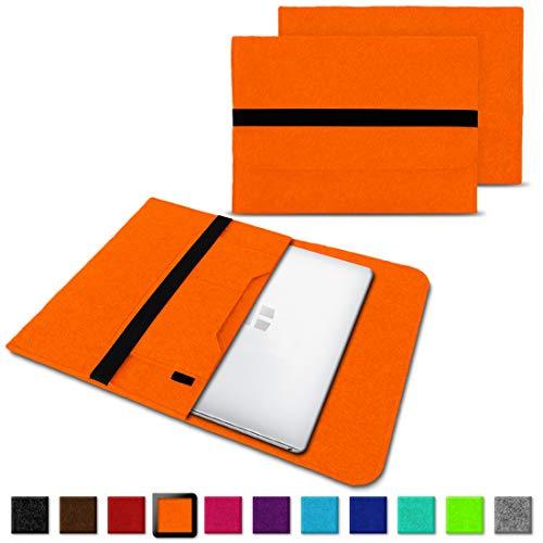 NAUC Laptoptasche Sleeve Schutztasche Hülle für Trekstor Surfbook W1 W2 Netbook Ultrabook 14,1 Zoll Laptop Filz Case, Farben:Orange