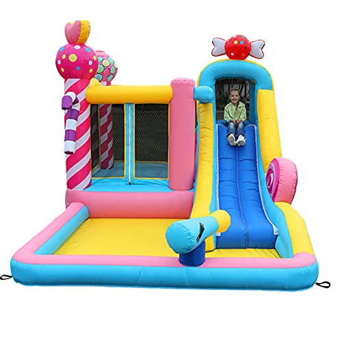 LGLE Bouncy Castles, Aircraft Inflatable Castle Trampoline, for Indoor and Outdoor Garden Children's Playground, Baby Swimming Pool, Water Park,3.7mX2.6mX2m,