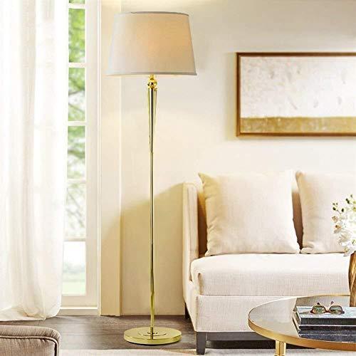 Brightz Lámpara de pie, Piso Luces Americana de Tela Village Retro Sombra Hierro Dormitorio Simple Luces Ligeras de Suelo for Luz Salón Vertical de luz Incluido, 1 (Color : 2)