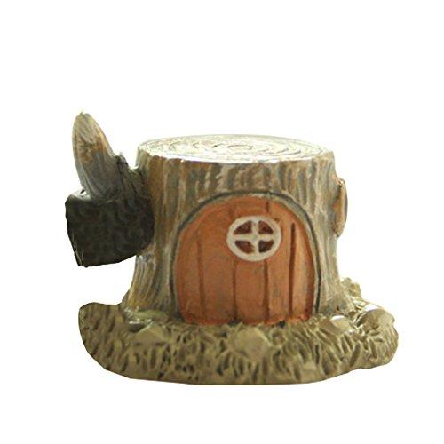 Outflower Adoralbe - Maisons naines miniatures en bois - Décoration de jardin féerique - Mini pot de fleurs - Accessoire en résine - Décoration d'intérieur et de jardin - Dimensions : 4 x 4 x 3 cm