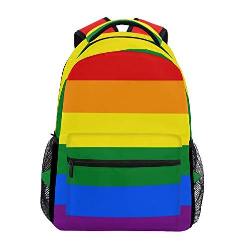 Stylish Gay Pride Backpack- Lightweight School College Travel Bags, ChunBB 16' x 11.5' x 8'