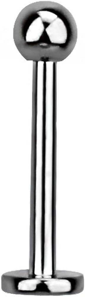 Kugel Metallschicht Labret Monroe Ohrpiercing Lippe Helix Tragus 1,2 x 4 mm