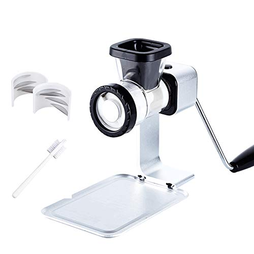 Manual Meat Grinder, Kitchen Multi-Function Mincer Stuffing Machine Small Food Processor Hand-Crushed Meat Grinder for Baby Food Supplements Fruits Nuts Vegetables and Meat