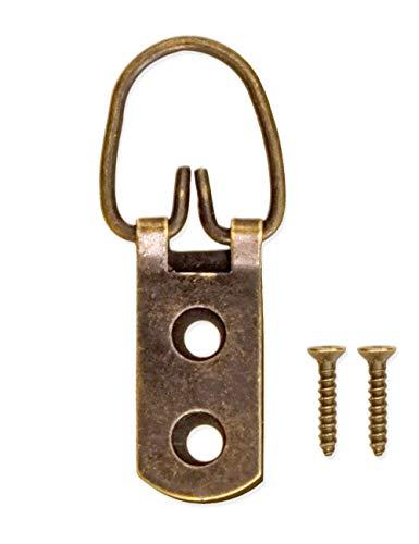 Fuxxer Lot de 20 crochets de style rétro pour tableaux avec œillets en cuivre Bronze avec vis.