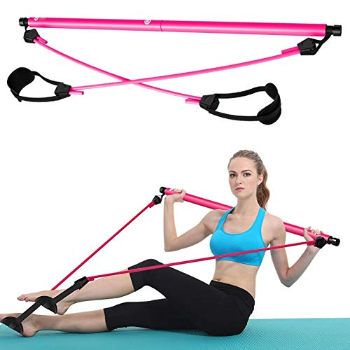 GSERA Tragbares Pilates Kit Widerstandsband Fitness Yoga Rallye