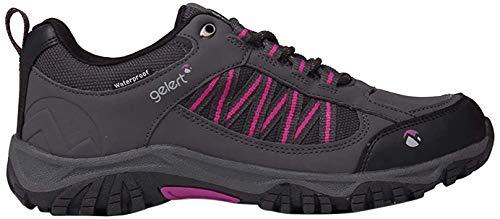 Gelert Womens Horizon Low Waterproof Walking Shoes Lace Up Breathable Outdoor Charcoal UK 6 (39)