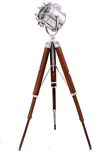 INDUSTRIAL STYLE VINTAGE MOVIE SPOT LIGHT FLOOR STANDING TRIPOD LAMP