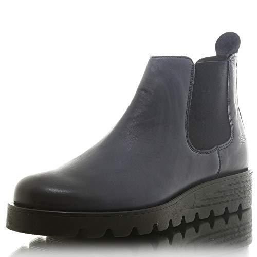 SHOOT SHW2189002 Damen Chelsea Boots Ankle Boots Stiefelette Navy Gr. 39