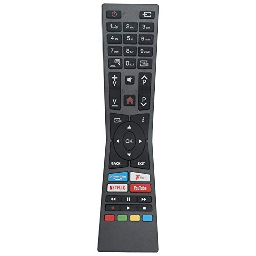 VINABTY RM-C3338 Telecomando sostitutivo adatto per TV JVC con pulsanti Prime Play YouTube NETFLIX Freeview Play