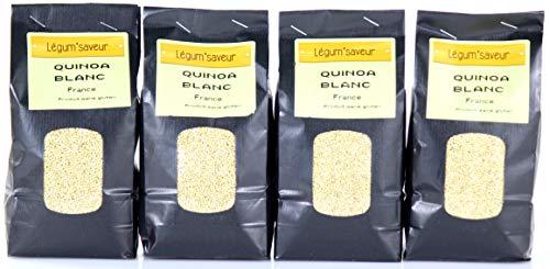 Quinoa Blanc Origne France (Gers) par lot 4 sachets de 500g - Naturellement sans gluten