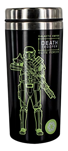 Paladone Death Trooper Reisebecher, Edelstahl, mehrfarbig, 8 x 8 x 19 cm
