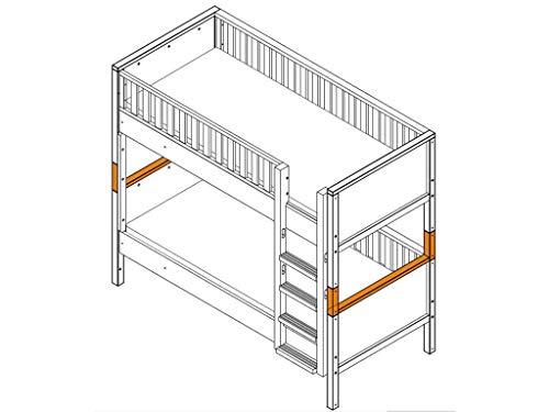 Bopita Supportset/Umbausatz zum Etagenbett Nordic Weiß