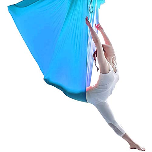 YXYH Sensory Swing Indoor Outdoor + 360° Breathable Mesh Hammock Indoor Therapy Swing Snuggle Cuddle Hammock for Children with Autism ADHD and Aspergers (Color : Sky Blue, Size : 100x280cm)