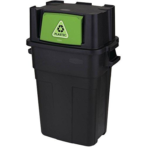 Rubbermaid Stackable Recycling Bin, 30-Gallon, Black