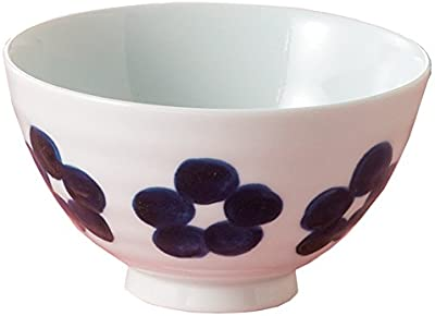 ワールドクリエイト 藍花 茶碗 有田焼 かりん 青 16803