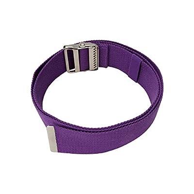 "Walking Transfer Gait Belt with Belt Loop Holder for Caregiver, Nurse, Therapist 60"" with Metal Buckle (Purple, 60"" with Metal Buckle)"