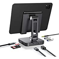 FoxDock USB-C 7-in-1 Hub Stand with 4K@30Hz HDMI, 100W Power Delivery, SD/Micro SD Card Reader, 5Gbp USB 3.0, Headphone Jack
