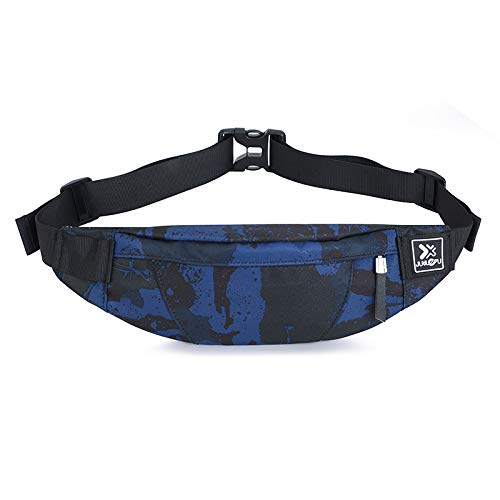 CZHJG Mochila Camuflaje Bolsa De Cintura Pequeña Bolsa De Pecho para Deportes Al Aire Libre para Hombres Moda Señora Running Bolsa Móvil Mochila De Viaje Camuflaje Azul