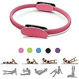 Anillo de Pilates Círculo Mágico para Fitnes, Aro de Pilates para Entrenamiento Fitness los Muslos Internos y Externos Mejora la Fuerza Flexibilidad y Postura (Rosado)