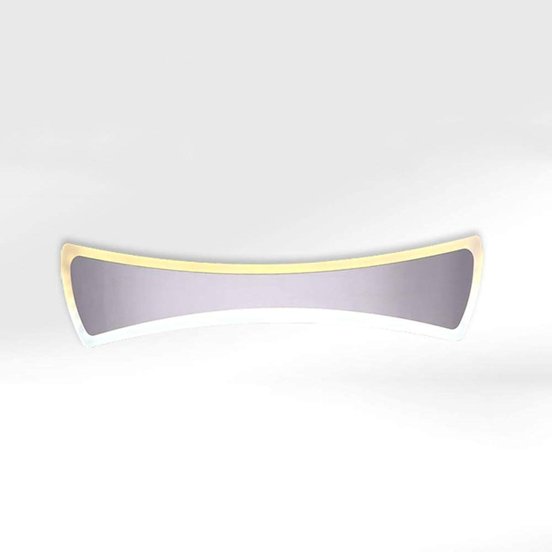 JINGD Einfache Moderne LED-Spiegel-Scheinwerfer, Edelstahl-Acrylbad-Antibeschlaglampe
