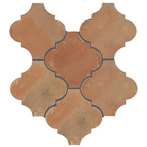 """SomerTile FGDTRLTC Linter Spanish Terra Cotta Ceramic Floor & Wall Paving Tile, 6"""" x 6"""", , Brown"""