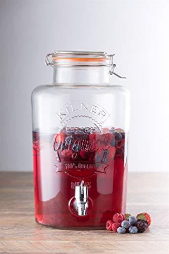 Kilner – Dispensador de bebidas redondo P001, Vidrio, 8 Litre