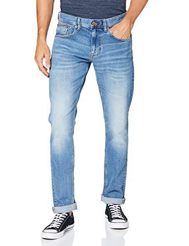 Tommy Hilfiger Hombre Slim Bleecker Str Baird Blue Loose Fit Jeans, Azul (Baird Blue), W31/L32