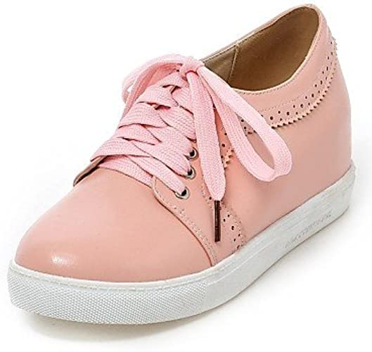 NJX  Chaussures Femme - Bureau & Travail   Habillé - Noir   Rose   Blanc   Beige - Talon Plat - Bout Arrondi - Richelieu - Similicuir