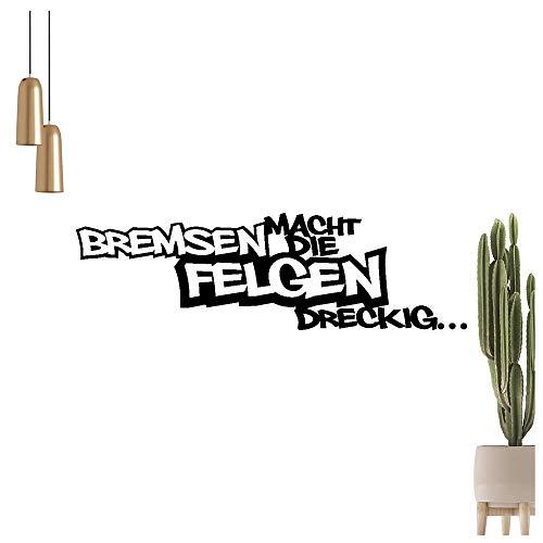 Bremsen macht Die Felgen dreckig Wandtattoo en 6 Tamaños - Wandaufkleber Wall Sticker, 91_Oro, 60 x 18 cm