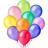 QILZO® 100 unidades Globos de látex Globos de Colores Surtidos 22cm / 8' Biodegradable Fabricado en España, Globos para Fiestas, Bodas, Reuniones, Cumpleaños, Bautizos, Photocall, Decoración
